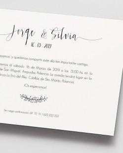 "Invitación de boda ""Postal Nature"""