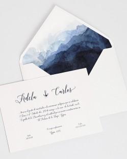 """Invitación de boda """"Agua"""""""