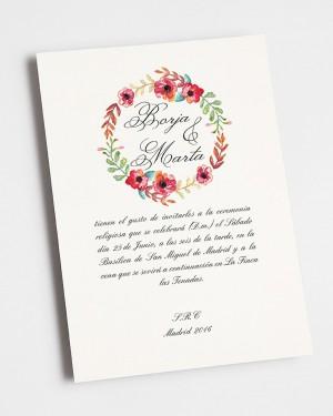 """INVITACIÓN DE BODA """"VERANO"""""""