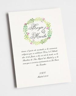 """Invitación de boda """"Primavera"""""""