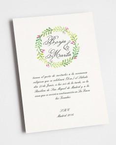 ínvitación de boda primaveral