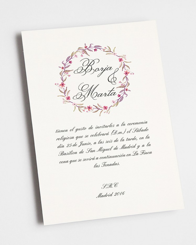 """Invitación de boda """"Otoño"""""""