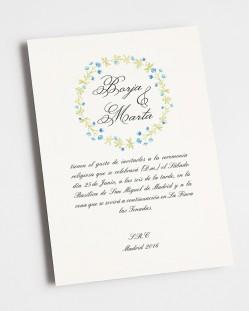 """Invitación de boda """"Invierno"""""""