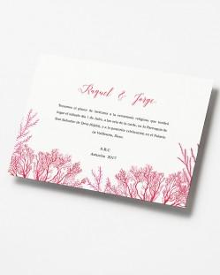 """Invitación de boda """"Arrecife de coral"""""""