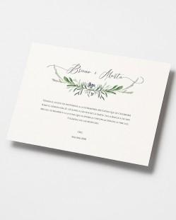 "Invitación de boda ""Jacintos silvestres"""