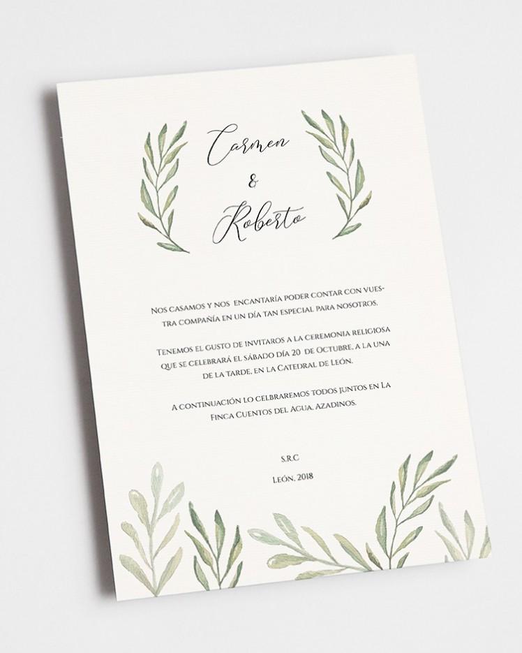 """Invitación de boda """"Olivo"""""""