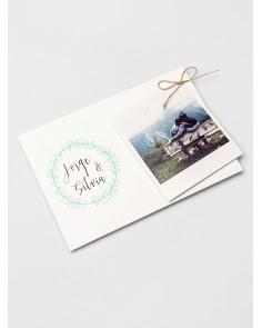 """Invitación de boda """"Polaroid"""""""