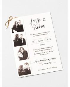 """Invitación de boda """"Fotomatón"""""""