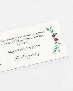 """Lista de boda """"Eucalipto y rosas"""""""