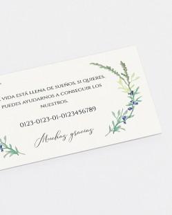 """Lista de boda """"Jacintos silvestres"""""""