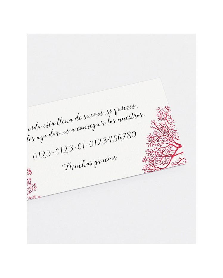 """Lista de boda """"Arrecife de coral"""""""