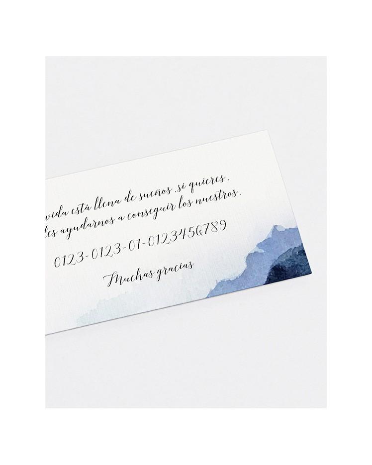 """Lista de boda """"Agua"""""""