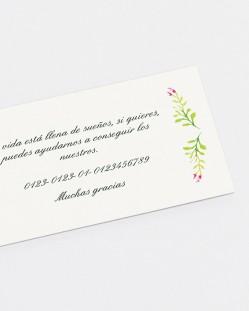 "Lista de boda ""Primavera"""