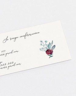 """Tarjeta de confirmación """"Eucalipto y rosas"""""""