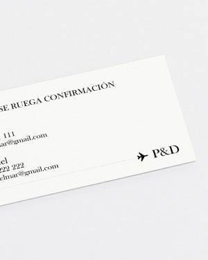 """TARJETA DE CONFIRMACIÓN """"MAPA"""""""
