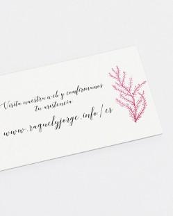 """Tarjeta web """"Arrecife de coral"""""""