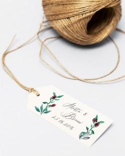 "Etiquetas ""Eucalipto y rosas"""