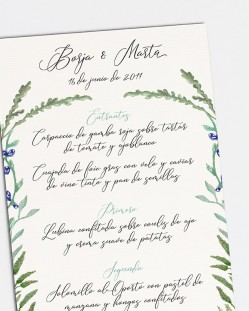 "Minuta ""Jacintos silvestres II"""