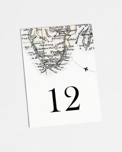 """Números de mesa """"Mapa"""""""