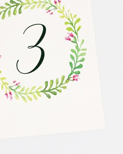 "Números de mesa ""Primavera"""