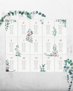 """Seating Plan """"Eucalipto y rosas"""""""