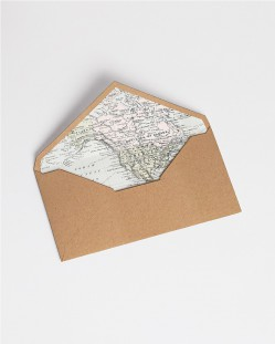 """Sobres con forro """"Mapa"""""""
