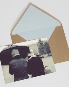 invitación para bodas de postal urban