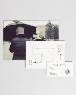 """Invitación de boda """"Postal Urban"""""""