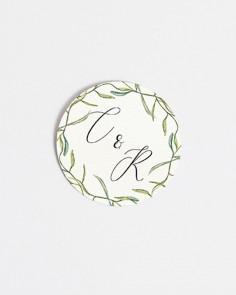 pegatinas para boda circulares flores