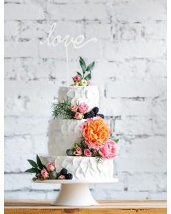 """Cake topper """"Love"""""""