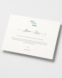 Invitación de boda Hiedra y Brezo (horizontal)