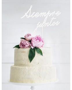 "Cake topper ""Siempre juntos"""