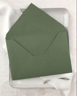 Sobre Verde Oliva para Invitaciones de Boda