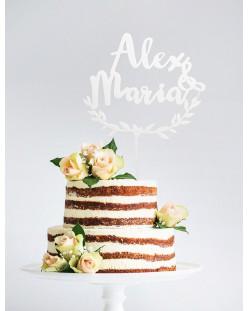 "Cake topper personalizado ""Laurel"""