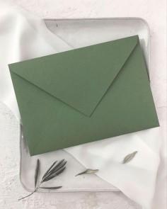 sobre verde oliva invitaciones boda