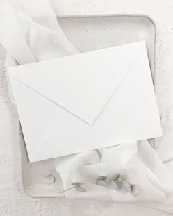 Sobre Blanco Nieve C5 para Invitaciones de Boda