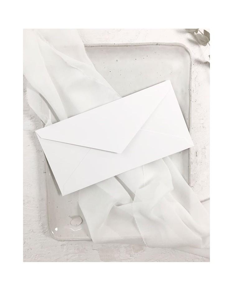 Sobre Blanco Nieve Americano para Invitaciones de Boda