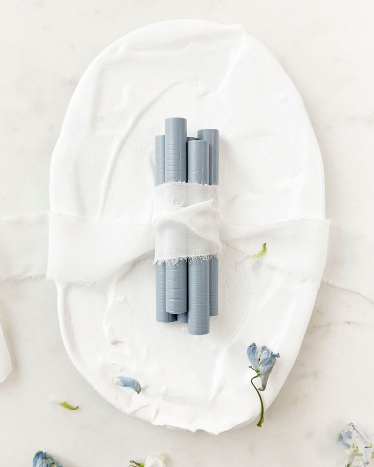 Barras de Lacre Azul Empolvado (Pack de 5)