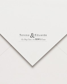 sello de caucho postal ampersand