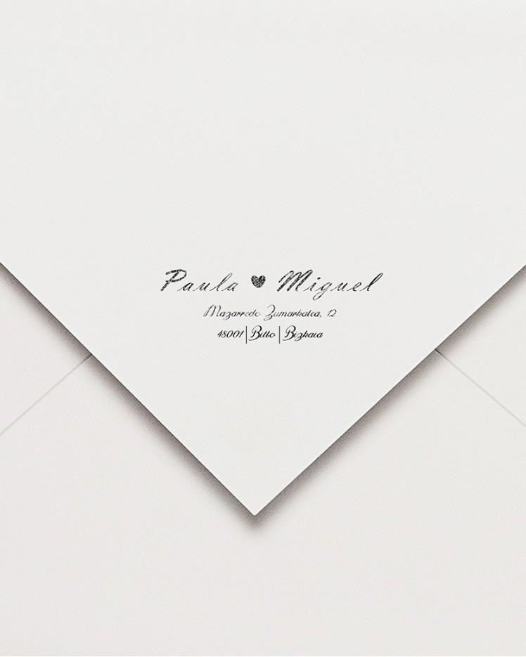 """Sello de caucho """"Romance postal"""""""