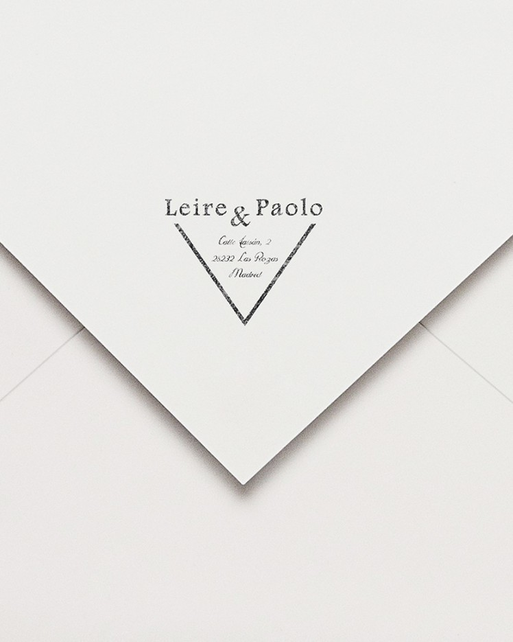 "Sello de caucho ""Triangle postal"""