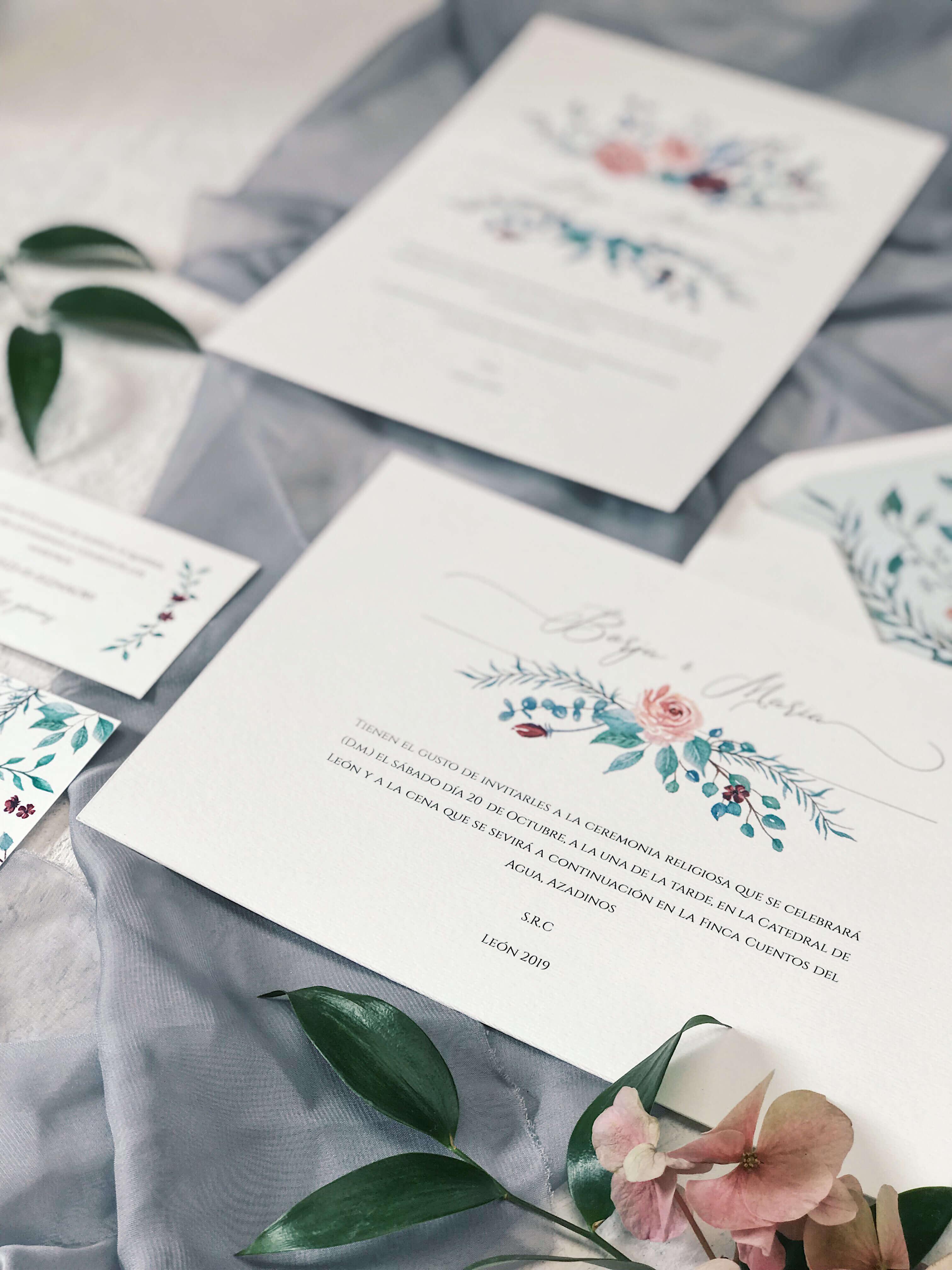 Invitaciones de boda Marmarina