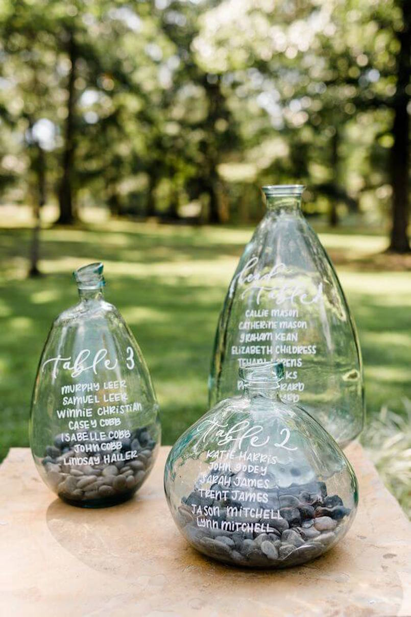 Seating plan en botellas