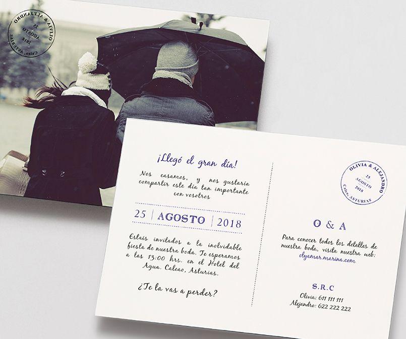 Ideas para los textos de invitaciones de boda Marmarina