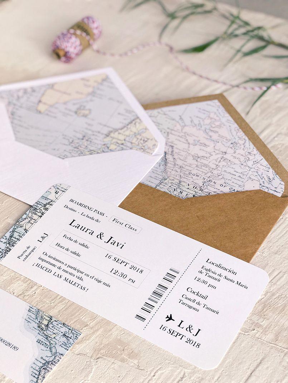 Invitaciones de Boda Temáticas Viaje Mapa Marmarina