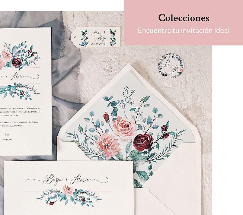Invitaciones de boda colecciones Marmarina