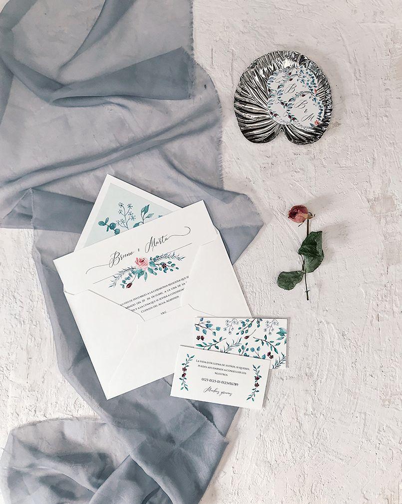 Invitaciones de boda originales Marmarina