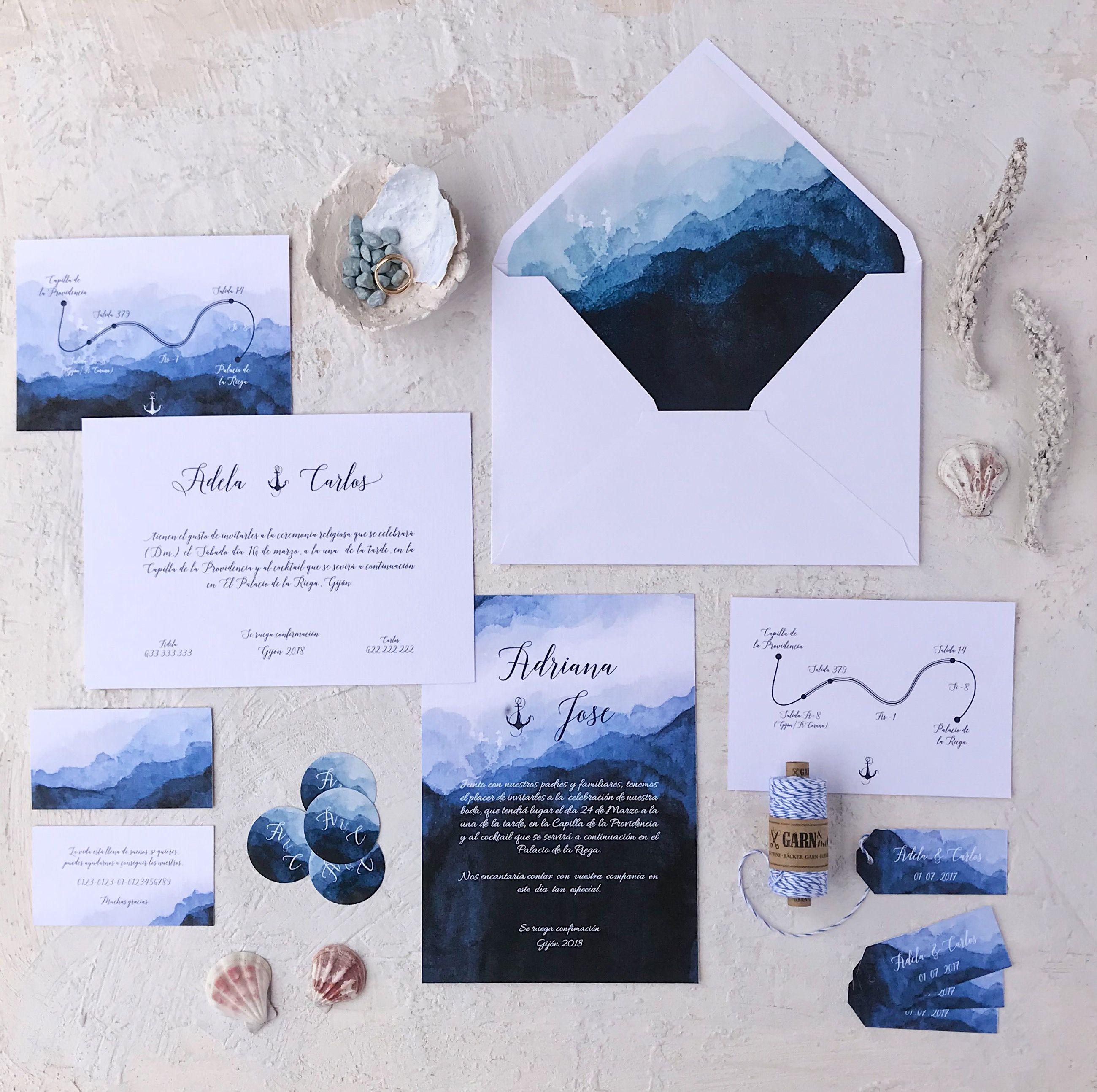 Invitaciones de boda originales marineras Marmarina