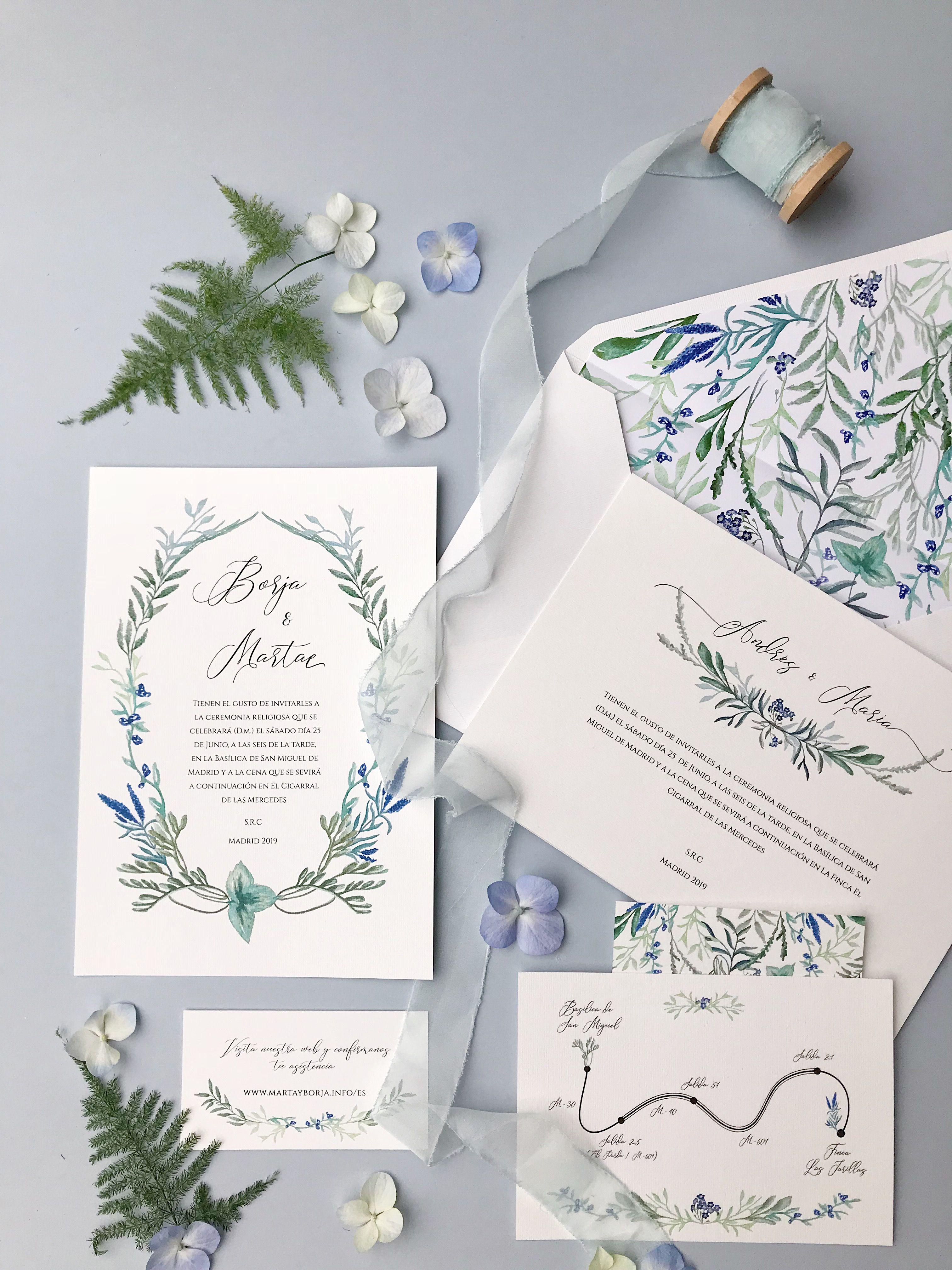Invitaciones de boda originales personalizadas Marmarina