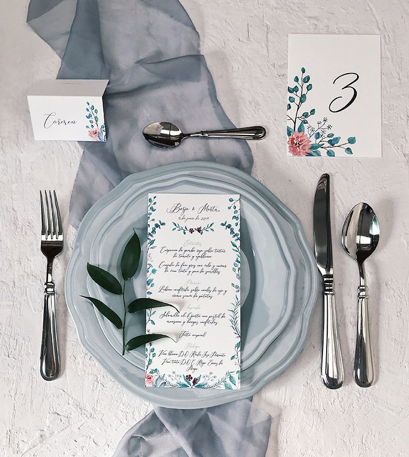 Papelería de boda Marmarina